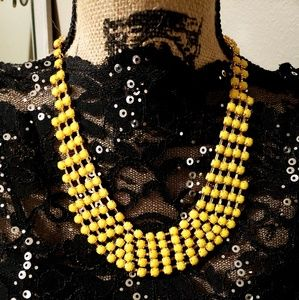 Jewelry - Gorgeous Yellow Statement Necklace